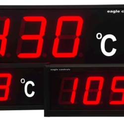 EAGLE CONTROLS LARGE DIGITAL TEMPERATURE LED PROCESS DISPLAYS